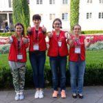Pożegnalne zdjęcie z koordynatorką wolontariuszy Joanną Golczyk i superwizorkami Katarzyną Kamińską i Anną Stach-Siegieńczuk