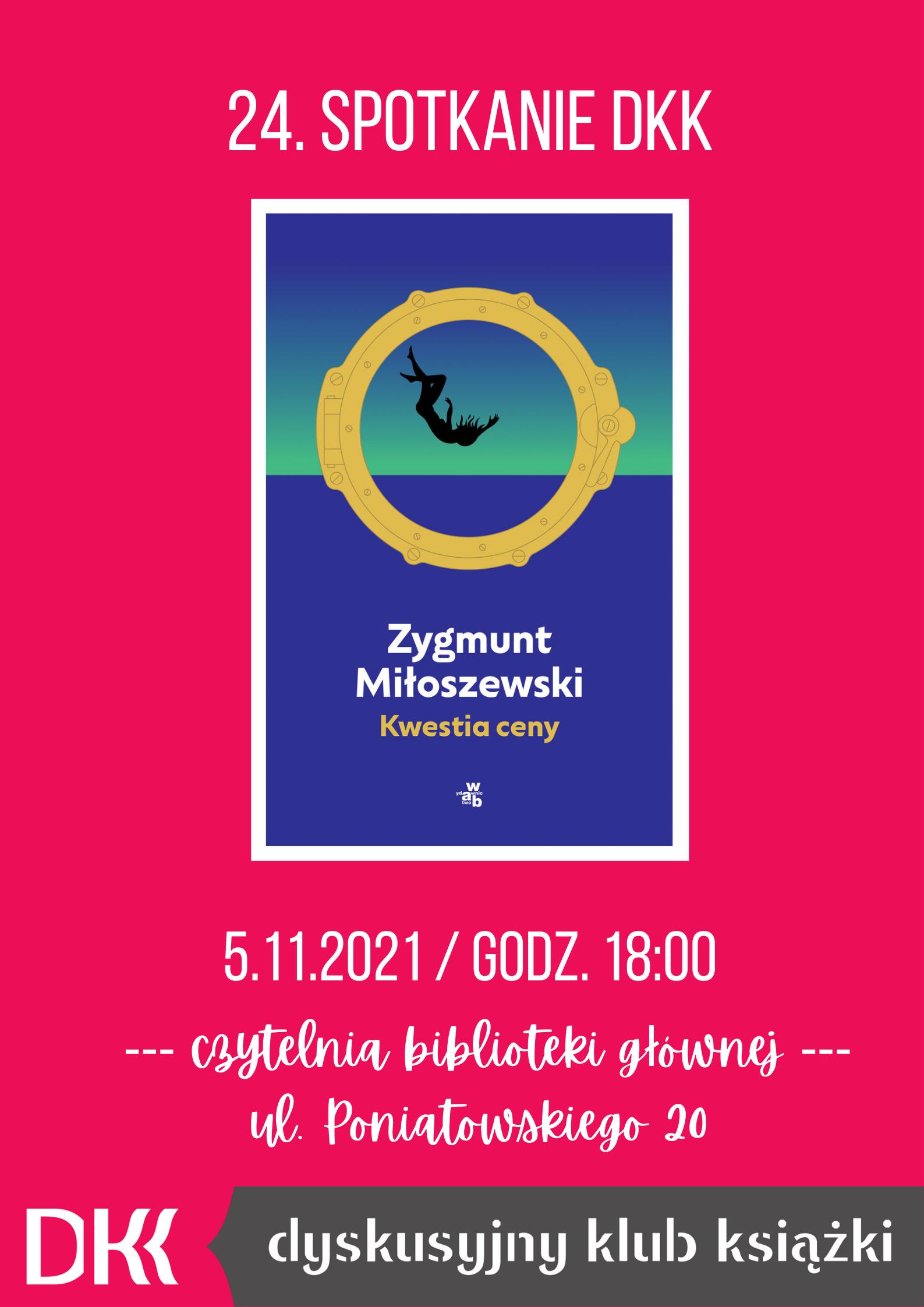 24 spotkanie Dyskusyjnego Klubu Książki - plakat
