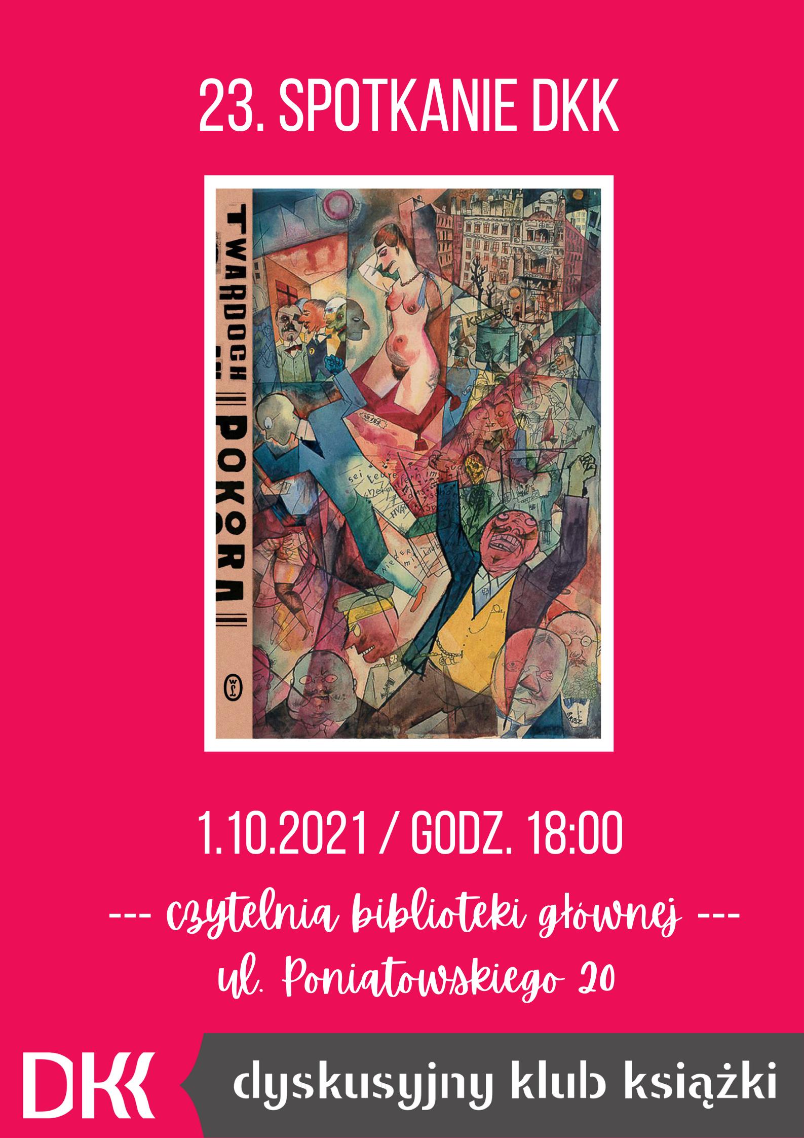 Zaproszenie na spotkanie Dyskusyjnego Klubu Książki w Raszynie 1 października 2021