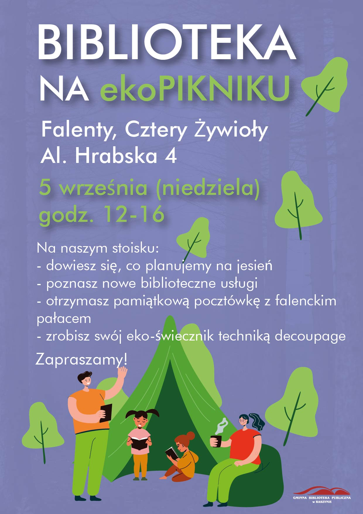 Biblioteka na ekopikniku - plakat