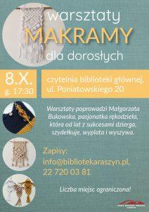 Warsztaty rękodzieła - makrama - plakat