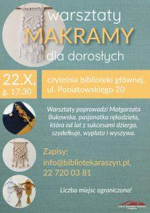 Warsztaty makramy - plakat