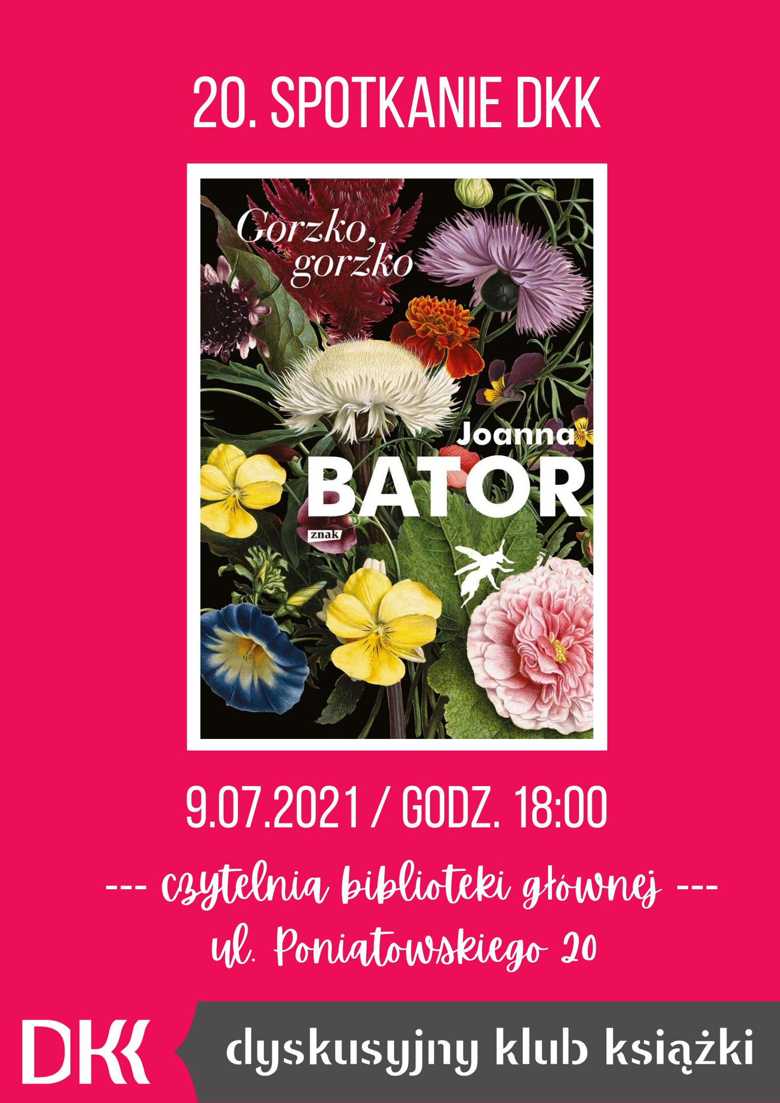 DKK spotkanie 20 - Joanna Bator