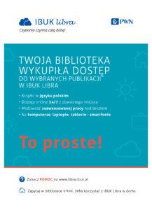 Plakat usługi dostępu do bazy ebooków IBUK LIBRA