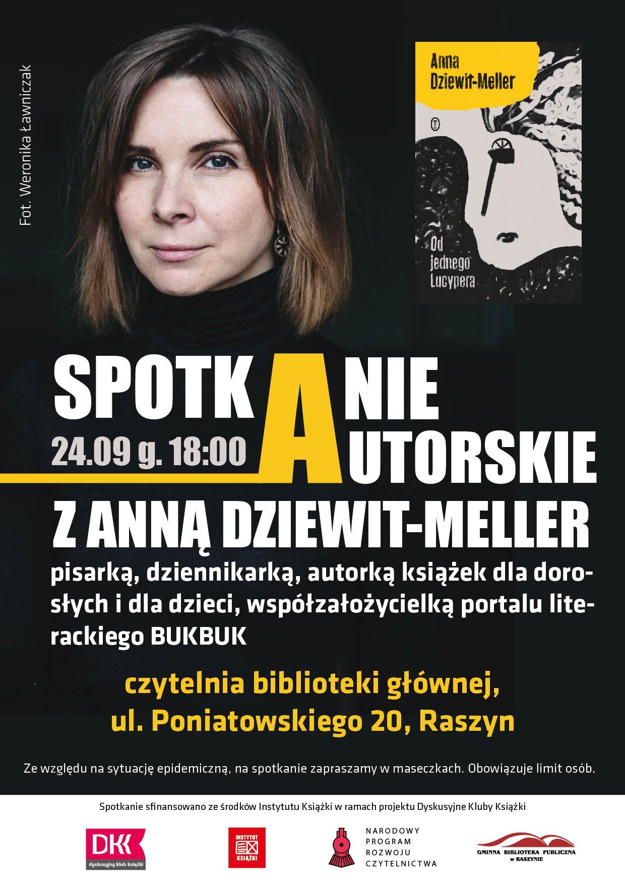Spotkanie autorskie z Anną Dziewit-Meller - plakat