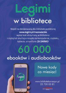 Usługa dostępu do bazy ebooków Legimi - plakat