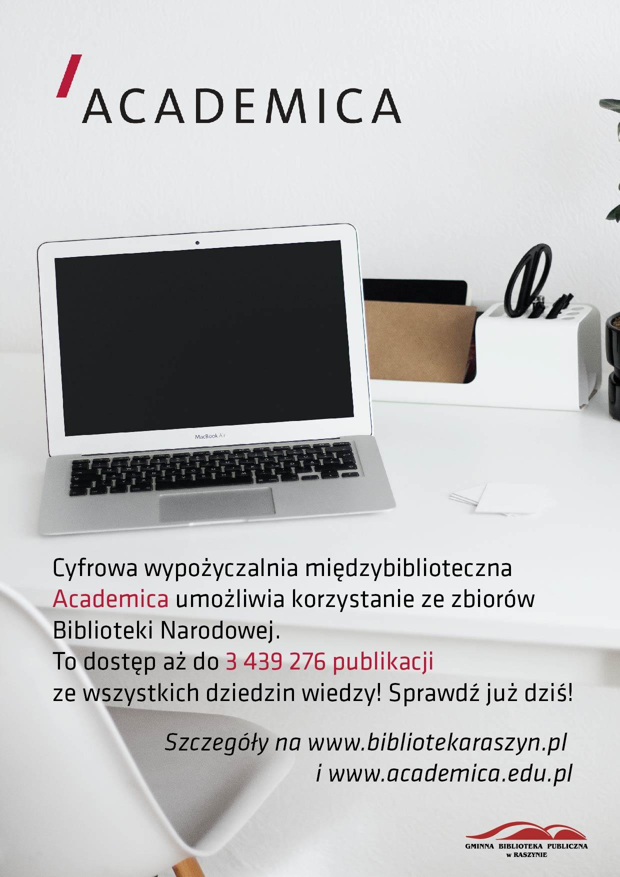 Wypożyczalnia cyfrowa Academica - plakat
